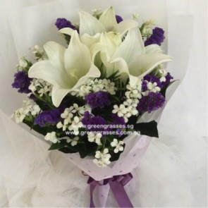HB07042-GLSW-3 Wh Lily