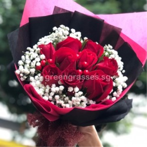 HB07334-GLSW-9 Red Rose