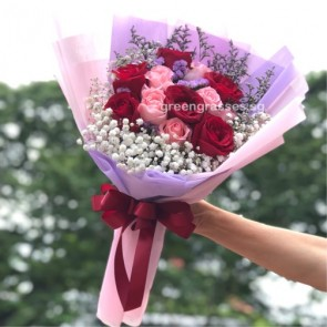 HB07507-GLSW-12 Rose(Pk+Red)