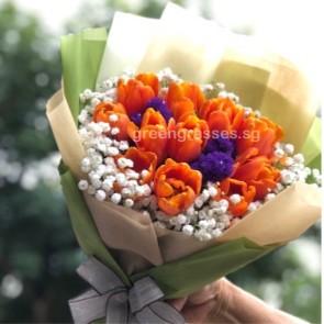 HB09014-LLGRW-10 Orange Tulip