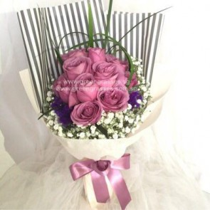 HB09082-GLSW-10 Imported Purple Yam Roses