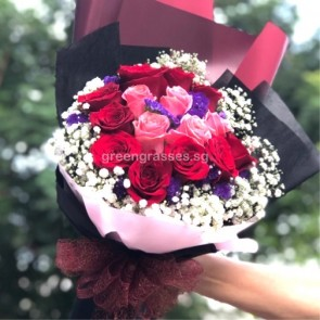 HB09522-GLSW-15 Rose(10Red+5Pk)