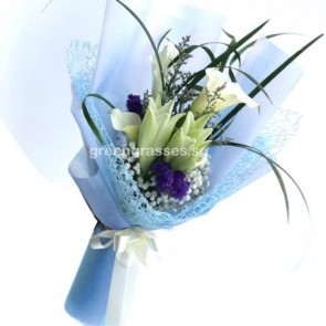 HB10054-LSW-Wh Lily+Calla Lily
