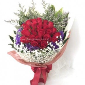 HB12018-LSW-24 Red Rose