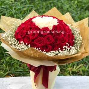 HB24013-LGRW-80 Roses(Red+Wh)