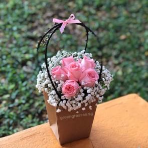 PB06064-6 Pk Roses in Paper Gift Bag
