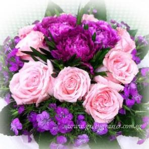 SCHB06027-Self Collect-LLGRW-9 Pk Rose+3 Purple Carnation