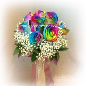 WB15012-ROM-9 Ecuador Rainbow Rose